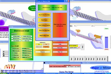 Click to view Guitar Learning Software 2.0 screenshot